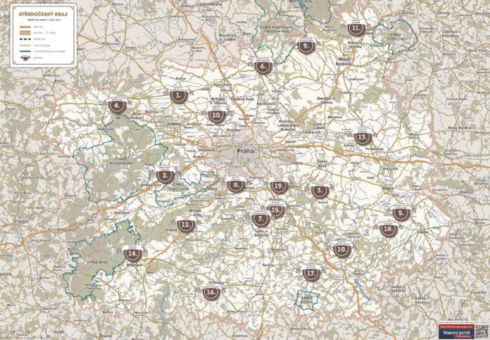 Nova Mapa Pivare Provede Stredoceskym Krajem Magazin Tim